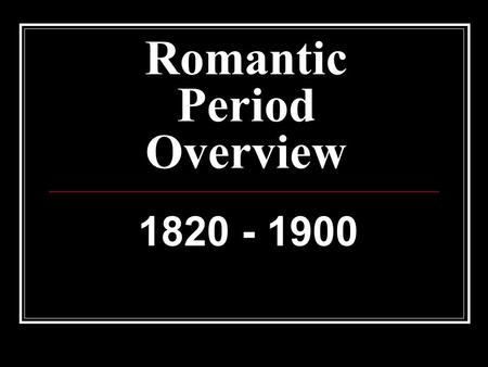 romantic period summary Romantic circles a refereed scholarly website devoted to the study of romantic-period literature and culture.