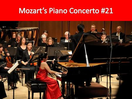 Piano Concertos Concertos were invented in the Baroque period as a form where a soloist or small group contrasted with the rest of the orchestra. – Concerto.
