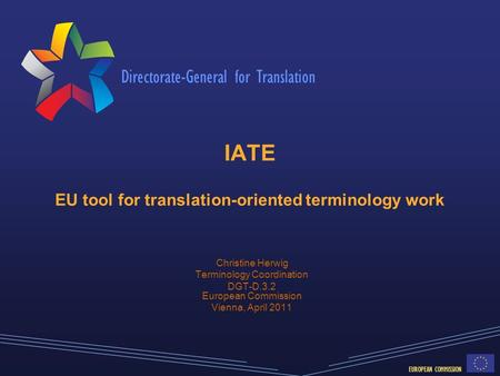 IATE EU tool for translation-oriented terminology work