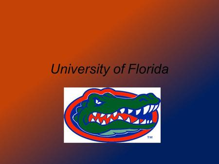 University of Florida. Location: Gainesville, Fl.