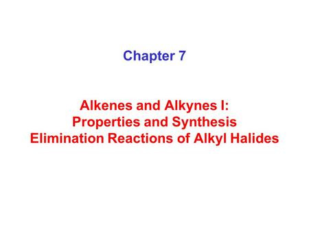 Nomenclature of Alkenes and Cycloalkenes