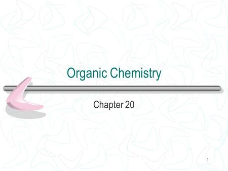 1 Organic Chemistry Chapter 20. 2 Carbon All living matter Four bonds Double and triple bonds.