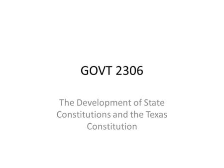 "govt 2306 bill of rights 2306/govt 2306 texas government (texas constitution and topics) (3-0)  studies the specific limits placed on governmental power in the ""bill of rights"" and ."