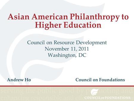 Asian American Higher Education Counci 57