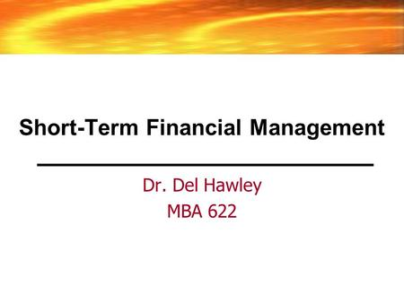 5 short term financial mgmt