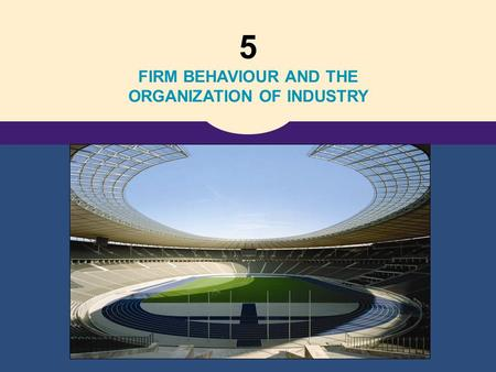5 FIRM BEHAVIOUR AND THE ORGANIZATION OF INDUSTRY.