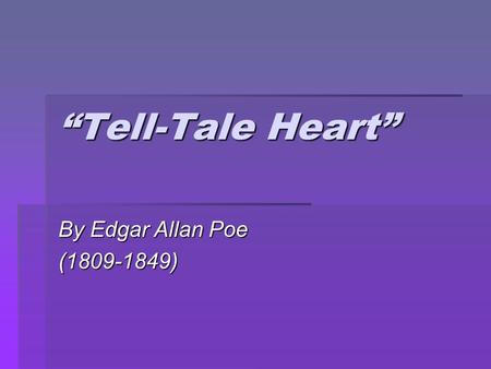 metaphors tell tale heart group