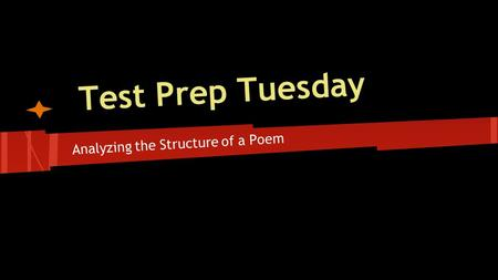 Analyzing the Structure of a Poem