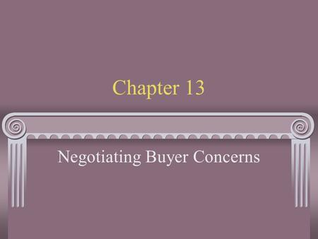Negotiating Buyer Concerns