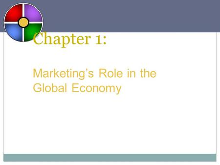 Chapter 1: Marketing's Role in the Global Economy.