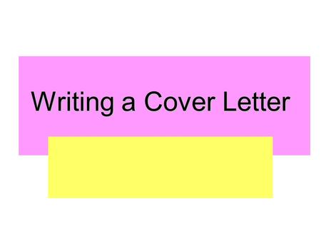 "Writing a Cover Letter. Since ""selling yourself"" is one key to getting an employer's attention, you need to keep yourself in the employer's eye. Either."