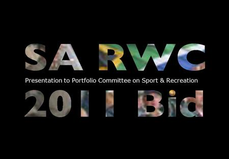 1 Presentation to Portfolio Committee on Sport & Recreation.