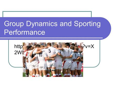 Group Dynamics and Sporting Performance  2WBCTzOfjA.