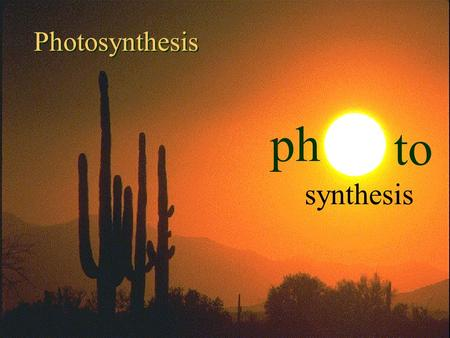 1 9/19/2015 ph to synthesis Photosynthesis 2 9/19/2015 Flag.