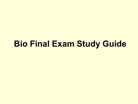 Bio Final Exam Study Guide. A group of similar cells that perform a particular function is called a. an organ. b. an organ system. c. a tissue. d. a division.