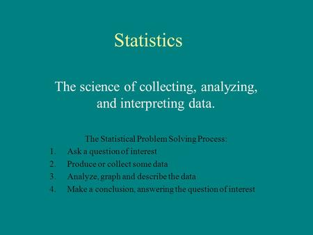 statistical problem solving Theme: statistical problem solving november 2014 quantitative problem  solving (mei) level 3 certificate teacher guide oxford cambridge.