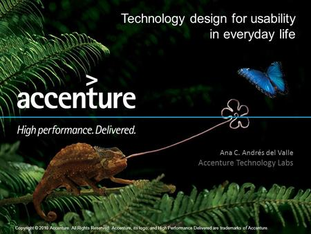 Copyright © 2010 Accenture All Rights Reserved. 1 Copyright © 2010 Accenture All Rights Reserved. Accenture, its logo, and High Performance Delivered are.
