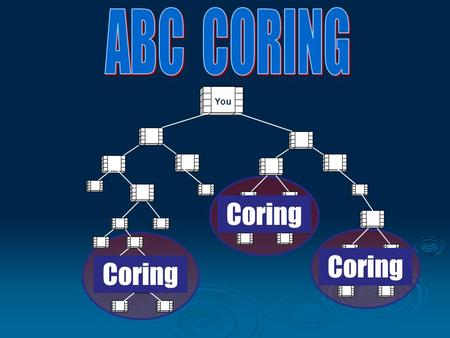 You Coring. THE SCIENCE OF CORINGS WHEN WHERE AND HOW TO CONDUCT THEM WHAT IS A CORING? THE PURPOSE OF CORINGS CORINGS USED FOR SIGN UPS, NDT. BASIC 5,