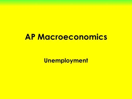 AP Macroeconomics Unemployment. Start with the Population of the Country (310 million) Let's figure out which groups of people are NOT in the labor force!