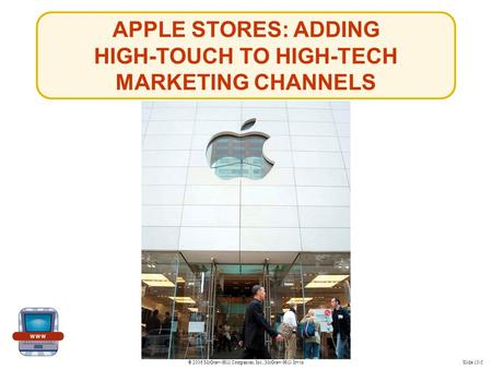 © 2006 McGraw-Hill Companies, Inc., McGraw-Hill/IrwinSlide 15-5 APPLE STORES: ADDING HIGH-TOUCH TO HIGH-TECH MARKETING CHANNELS.