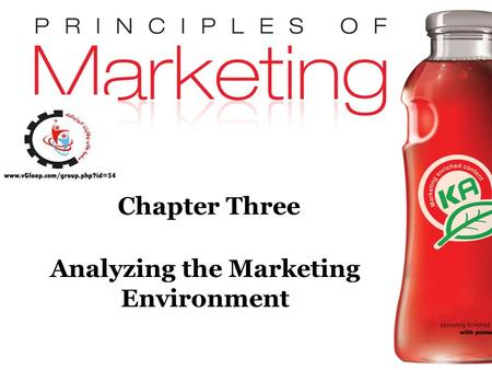 Chapter 3- slide 1 Copyright © 2009 Pearson Education, Inc. Publishing as Prentice Hall Chapter Three Analyzing the Marketing Environment.