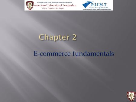 E-commerce fundamentals