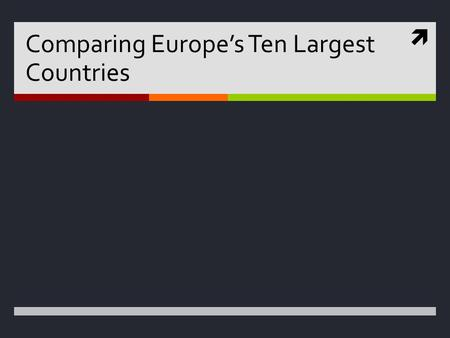  Comparing Europe's Ten Largest Countries. France  Limited Government (President Hollande)  Language is French (100%)  Religion is Roman Catholic.