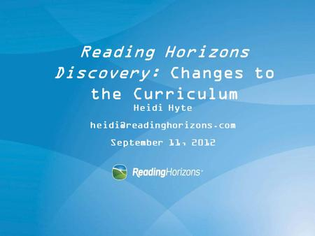 Reading Horizons Discovery: Changes to the Curriculum