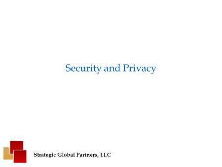 Security and Privacy Strategic Global Partners, LLC.
