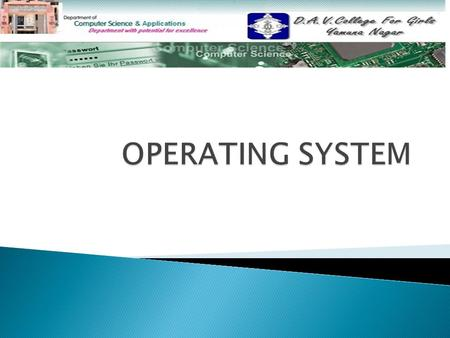  Introduction to Operating System Introduction to Operating System  Types Of An Operating System Types Of An Operating System  Single User Single User.