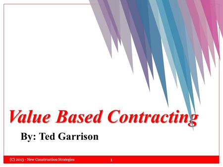 Value Based Contracting
