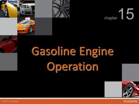 Gasoline Engine Operation chapter 15. Gasoline Engine Operation FIGURE 15.1 The rotating assembly for a V-8 engine that has eight pistons and connecting.