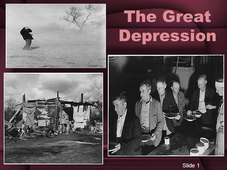 The Great Depression Slide 1. The Nations Sick Economy Towards the end of the 1920's serious problems threatened economic prosperity. Railroads, textiles,
