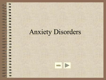 "Anxiety Disorders WEB. Anxiety as a Normal and an Abnormal Response Some amount of anxiety is ""normal"" and is associated with optimal levels of functioning."
