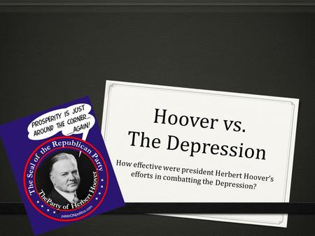 Hoover vs. The Depression