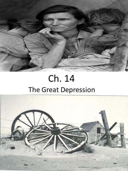 Ch. 14 The Great Depression. Key industries barely made a profit; some industries lost business to foreign competition and new American technologies;