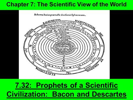 7.32: Prophets of a Scientific Civilization: <strong>Bacon</strong> and Descartes Chapter 7: The Scientific View of the World.