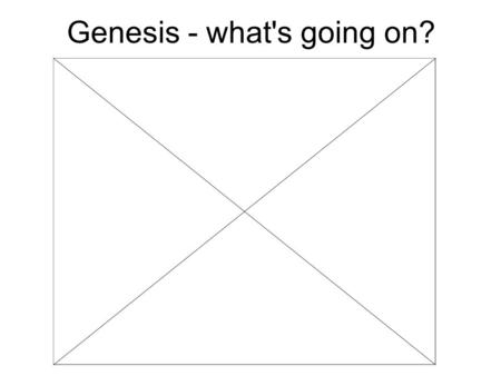 Genesis - what's going on?