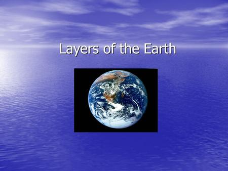 Layers of the Earth. The Inner Core Composition: iron and nickel Depth Range (Km): 5150 Km State of Matter: solid Temperature: 5000-6000 º C. Density: