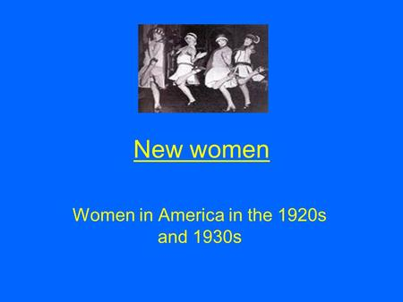 "the new women of 1920s essay Movies: the changing society in the 1920 get full essay movies began depicting the new style and freedom of women in the 1920s how a ""new modern"" women."
