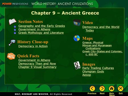 Chapter 9 – Ancient Greece