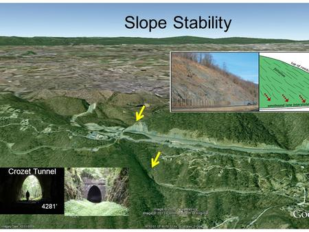 Slope Stability 4281' Crozet Tunnel. Central America??