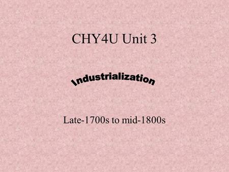 CHY4U Unit 3 Late-1700s to mid-1800s. Machinery  ution/ss/Industrial_Revo.htmhttp://inventors.about.com/od/indrevol.