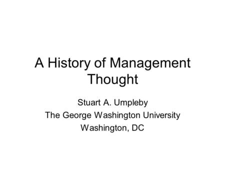 PIONEERS OF MANAGEMENT
