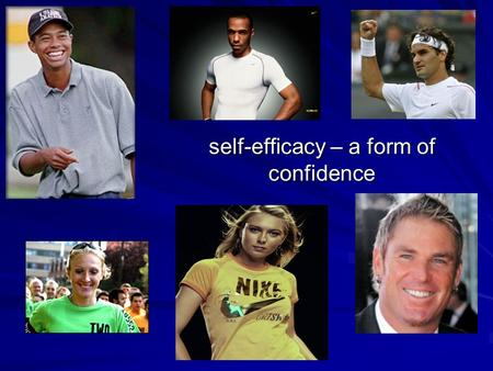 self-efficacy – a form of confidence