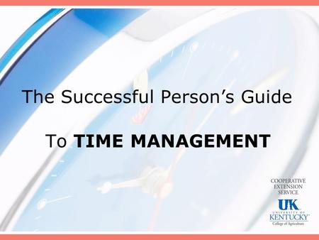The Successful Person's Guide
