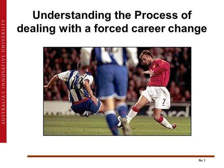 No 1 Understanding the Process of dealing with a forced career change.