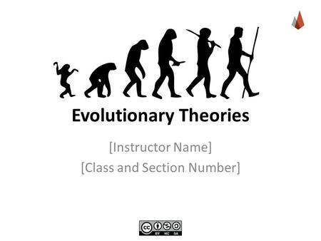 Evolutionary Theories [Instructor Name] [Class and Section Number]