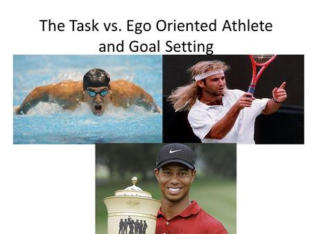 The Task vs. Ego Oriented Athlete and Goal Setting.