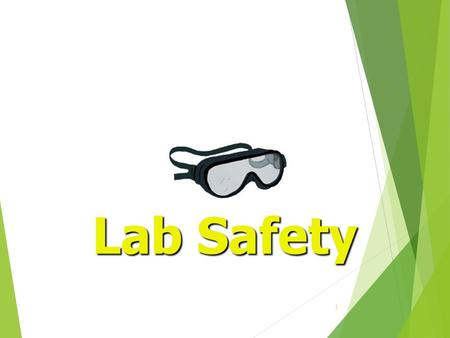 1 Lab Safety. 2 General Safety Rules 1. Listen to or read instructions carefully before attempting to do anything. 2. Wear safety goggles to protect your.